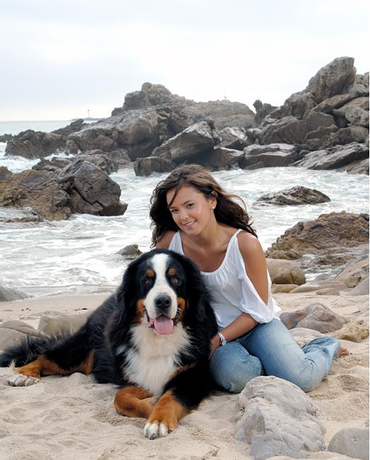 Jessica and Dog Newport Beach Portrait