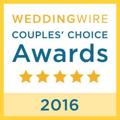 Wedding Wire Couples Choice Award Winner 2016