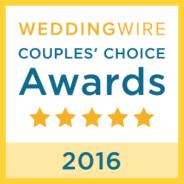 Wedding Wire Couples Choice Award Winner 2016!