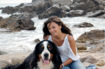 Jessica and Dog Newport Beach Portrait